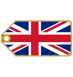 Vintage label with the flag of united kingdom vector