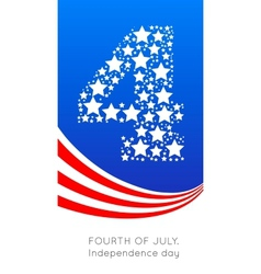 4th july american independence vector