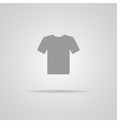 White blank tshirt icon symbol vector