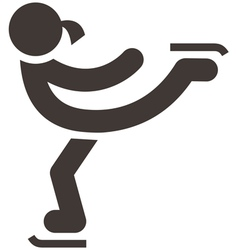 Figure skating icon vector
