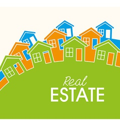 Real estate over white background vector image