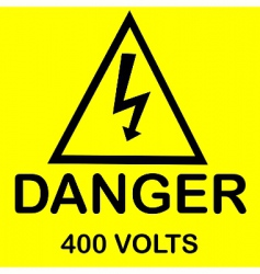 Danger 400 volts vector
