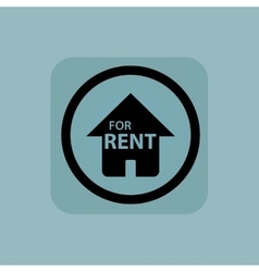 Pale blue for rent sign vector