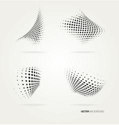 halftone dots vector image