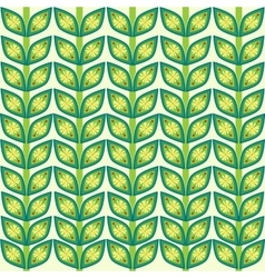 Leaves plant pattern background vector
