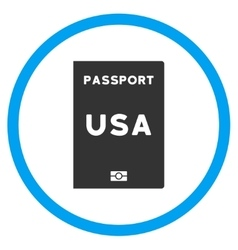 American passport circled icon vector