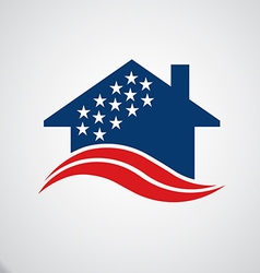 American house logo vector image