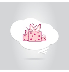 A Gift in a White Cloud vector image vector image