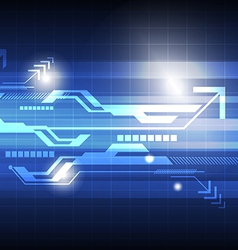 abstract technology concept background vector image
