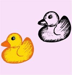 bath rubber duck vector image