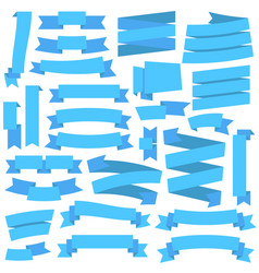 blue ribbons set vector image