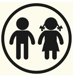 Boy and girl icons vector image vector image