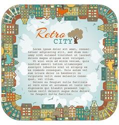 Bright square city landscape vector image
