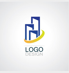 building town business logo vector image