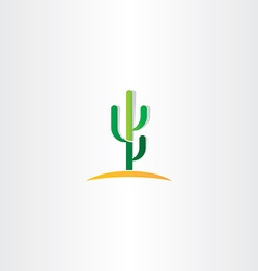 Cactus in desert icon vector