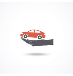 Car insurance icon vector image vector image