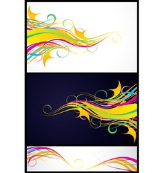colour abstraction from lines vector image vector image