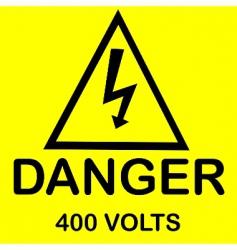 danger 400 volts vector image