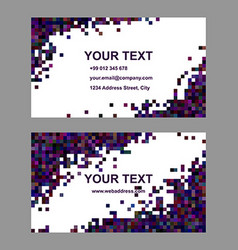 Dark abstract business card template design vector