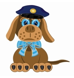 Dog police vector image
