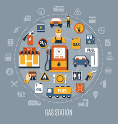 flat fuel pump composition vector image