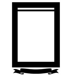 funeral frame with tape for an inscription a sad vector image vector image