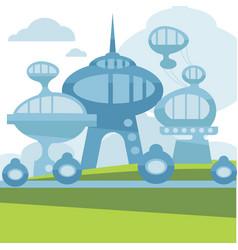 Future city landscape modern vector