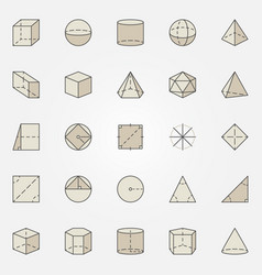 geometry colorful icons vector image vector image