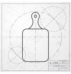 Kitchen board icon vector