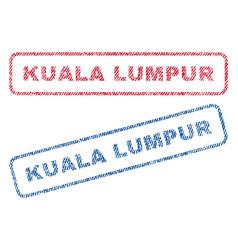 Kuala lumpur textile stamps vector