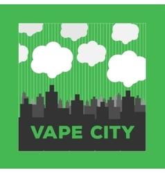 logo vaping city electronic cigarette vector image