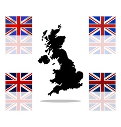 Map of britain vector