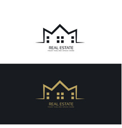 Modern logo design for real estate sector vector