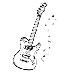 musical instrument Bas-guitar on white background vector image vector image