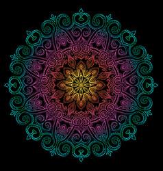 new round mandala-13 vector image vector image