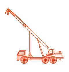 orange silhouette shading cartoon construction vector image
