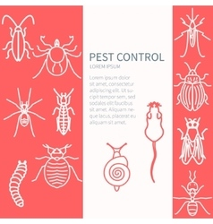 Pest control template vector