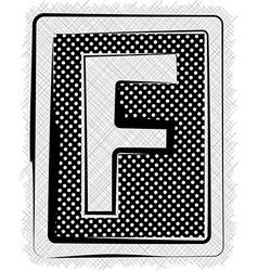 Polka Dot Font LETTER F vector image vector image