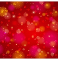 Red shine background with bokeh vector