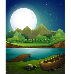 River at night vector image vector image
