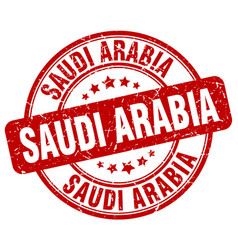 Saudi arabia red grunge round vintage rubber stamp vector