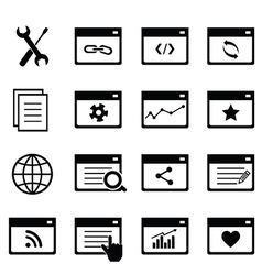 SEO icons vector image vector image