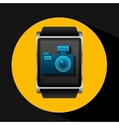 smart watch concept camera social media vector image