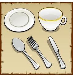 White tea set the five elements vector image