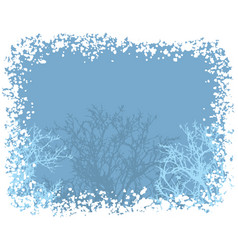 winter snow border background vector image vector image