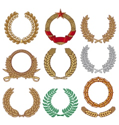 Wreath set - Laurel wreath vector image