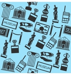 Hand drawn museum pattern vector