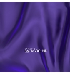 Blue indigo silk fabric vector image