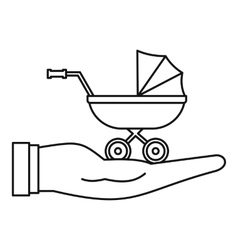 Baby pram protection icon outline style vector