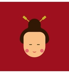 east woman of Chinese new year vector image
